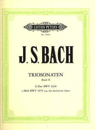 Bach, J.S.: Trio Sonatas Vol.2 (2 violins, piano, cello) PETERS