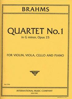 International Music Company Brahms, Johannes: Piano Quartet Op.25 No.1 in g minor (violin, viola, cello, piano)