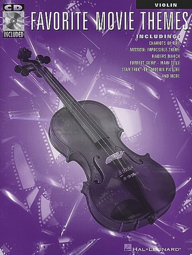 HAL LEONARD Favorite Movie Themes (violin & CD)