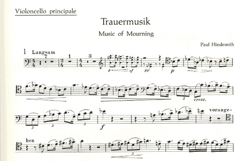 HAL LEONARD Hindemith, P. (Willms, arr.) Trauermusik (cello and piano)