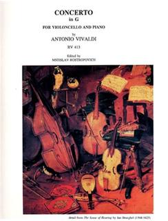 LudwigMasters Vivaldi, Antonio (Rostropovich): Concerto in G, RV 413 (cello & piano)