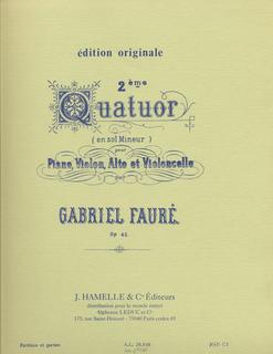 Faure, Gabriel: Piano Quartet Op.45 No. 2 (piano, violin, viola, cello)
