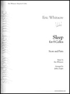 HAL LEONARD Whitacre: Sleep (8 cellos) SHADOW WATER MUSIC