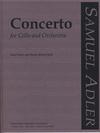 Carl Fischer Adler, Samuel: Concerto (cello & piano)
