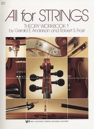 Anderson & Frost: All for Strings Theory Workbook, Bk.1 (cello)