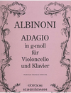 Edition Kunzelmann Albinoni, Tomaso: Adagio in G minor (cello & piano)