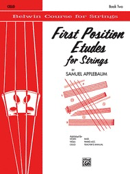 Alfred Music Applebaum, S.: First Position Etudes for Strings (cello)