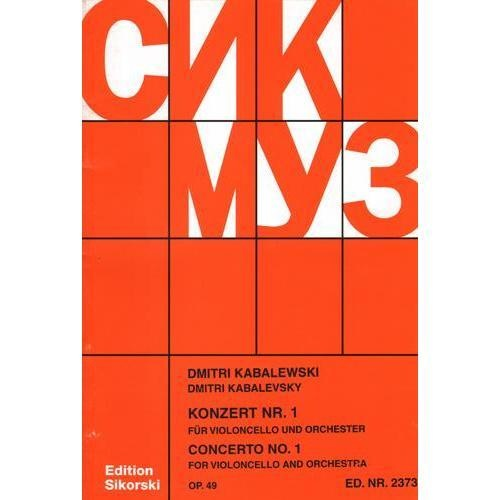 HAL LEONARD Kabalevsky, D.: Concerto No.1 for Violoncello and Orchestra, Op.49 (cello, and piano reduction)