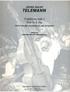 """LudwigMasters Telemann, G.P.: Tafelmusik 1: Trio in Eb """"Hinnenthal"""" (2 violins,  cello, piano)"""