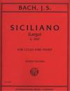 International Music Company Bach (Solow): Siciliano - Largo, S.1017 (cello & piano)