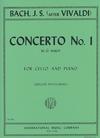 International Music Company Bach, Johann S.: Concerto No.1 in G Major, S.592 - after Vivaldi (cello & piano)
