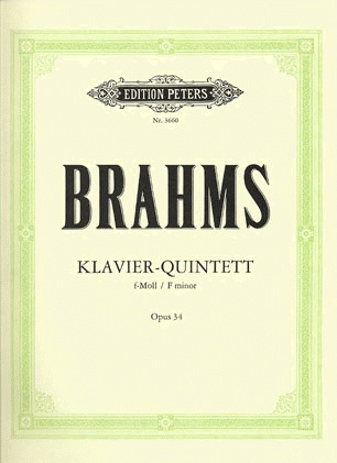 C.F. Peters Brahms, Johannes: Quintet in F minor Op.34 (2 violins, viola, cello, piano)