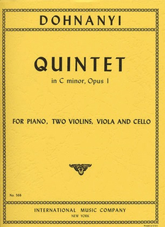 International Music Company Dohnanyi, Ernst: Quintet Op.1 in C minor (2  violins, viola, cello, piano)