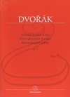 Barenreiter Dvorak (Burghauser/Solc): (Score/Parts) Piano Quintet in A Major, Op.5 (piano quintet) Barenreiter