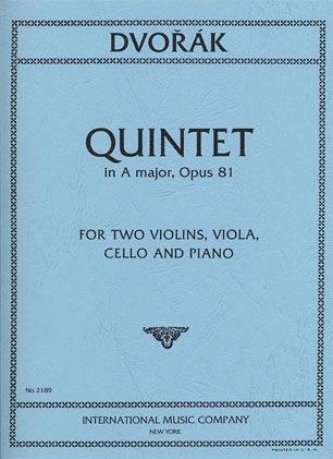 International Music Company Dvorak, Antonin: Quintet in A major, Op. 81 (2 violins, viola, cello, piano)