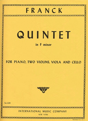 International Music Company Franck, Cesar: Quintet in F minor (piano, 2 violins, viola, cello)