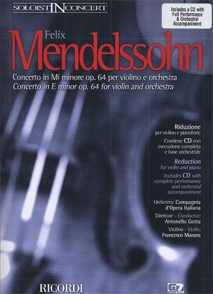 HAL LEONARD Mendelssohn, Felix: Concerto in e minor Op.64 (violin, CD, Piano)
