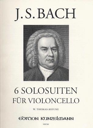 Edition Kunzelmann Bach, J.S. (Thomas-Mifune): 6 Suites for Cello (cello)  Edition Kunzelmann