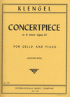 International Music Company Klengel (Rose): Concertpiece in D minor, Op.10 (cello & piano)