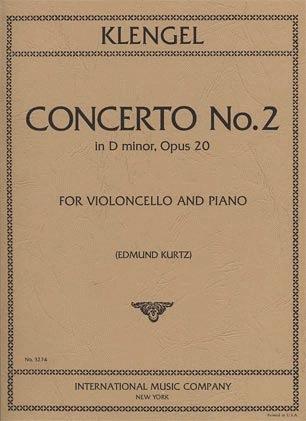 International Music Company Klengel (Kurtz): Concerto No.2 in D minor, Op.20 (cello & piano)
