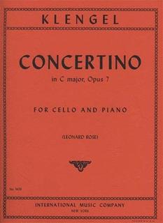 International Music Company Klengel (Rose): Concertino in C Major, Op.7 (cello & piano)