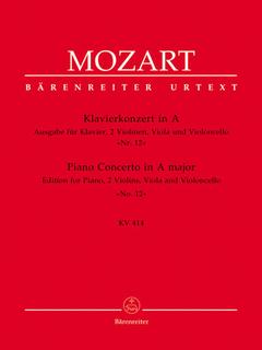 Barenreiter Mozart, W.A.: Quintet from Piano Concerto No.12 in A (2 violins, viola, cello, piano) Barenreiter