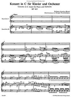 Barenreiter Mozart, W.A.: Quintet from Piano Concerto No.13 in C Major (2 violins, viola, cello, piano)