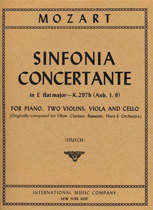 International Music Company Mozart, W.A.: Sinfonia Concertante in Eb K297b (piano, 2 violins, viola, cello)
