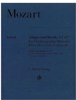 HAL LEONARD Mozart, W.A. (Wiese, ed.): Adagio and Rondo, KV 617, urtext (glass harmonica [piano], flute, oboe, viola, and cello)