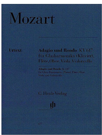 HAL LEONARD Mozart, W.A. (Wiese, ed.): Adagio and Rondo, KV 617, urtext (glass harmonica [piano], flute, oboe, viola, and cello)
