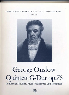 Onslow, Georges: Quintet Op.76 in g (violin, viola, cello, bass, piano)