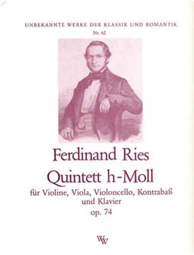C.F. Peters Ries: Quintet in B minor (violin, viola, cello, bass, piano)