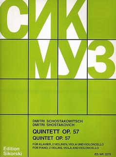 HAL LEONARD Shostakovich, Dmitri: Quintet Op.57 (piano, 2 violins, Viola, Cello)