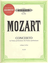 C.F. Peters Mozart, W.A.: Concerto #5 in A K219 (violin, CD, piano)