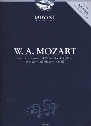 HAL LEONARD Mozart, W.A. (Dowani): Sonata for Piano & Violin in E minor KV304 (violin, Piano, CD)a
