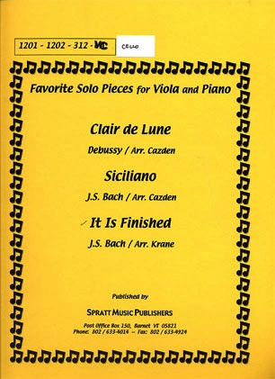 Bach, J.S. (Krane): It is Finished (cello & piano)