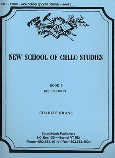Spratt Music Krane, C.: New School of Cello Studies - Bk.1, First Position (cello)