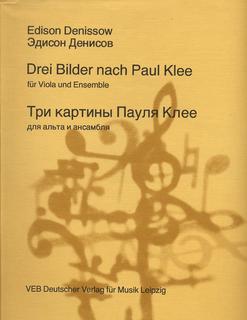 Denissow, Edison: Drei Bilder nach Paul Klee (viola, Oboe, Bass, Vibraphone)