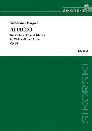 Edition Sikorski Bargiel, Woldemar: Adagio Op. 38 (cello & piano)