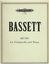 Bassett, Leslie: Music for Violoncello and Piano (cello & piano)