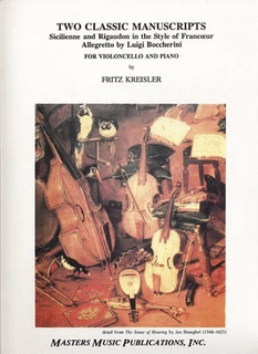 LudwigMasters Kreisler, Fritz: Sicilienne & Rigaudon/Allegretto (cello & piano)