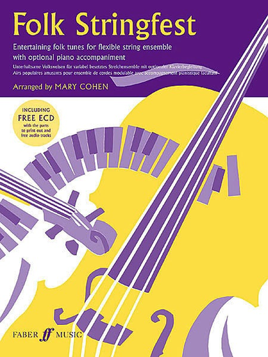 Alfred Music Cohen, Mary: Folk Stringfest for Flexible String Ensemble with optional piano accompaniment (ECD & score)