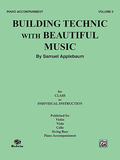 Alfred Music Applebaum, Samuel: Building Technic with Beautiful Music Bk.2 (piano accompaniment)