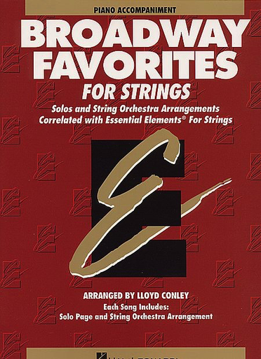 HAL LEONARD Conley, Lloyd: Broadway Favorites for Strings (piano accompaniment)