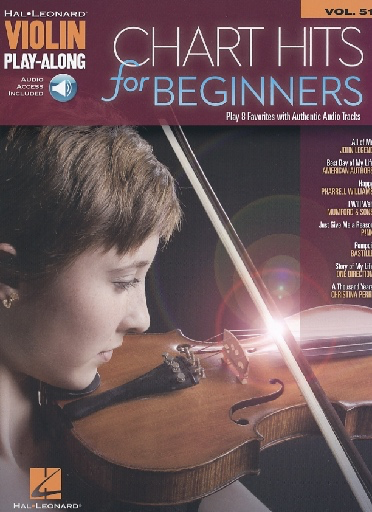 HAL LEONARD Chart Hits for Beginners (Violin Play-Along)