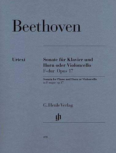 HAL LEONARD Beethoven, van L. (Raab, ed.): Sonata for Piano & Horn or Cello, Op.17, urtext (cello & piano)
