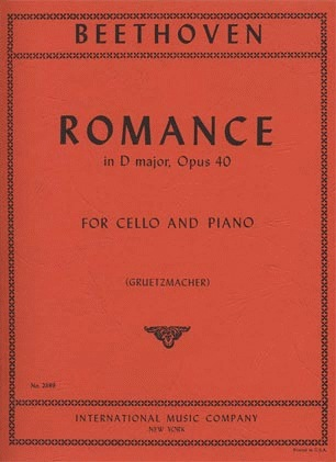International Music Company Beethoven: Romance #1 in G Major Op.40 ( Cello & Piano)