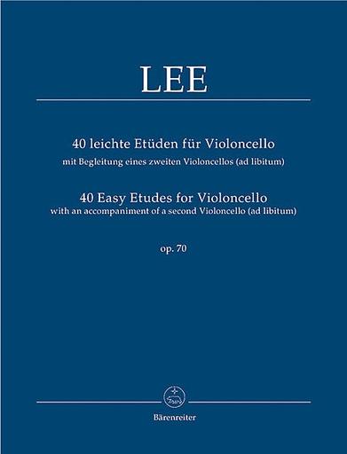 Barenreiter Lee, Sebastian (Rummel): 40 Easy Etudes for Violoncello op. 70, with an Accompaniment of a 2nd Violoncello (ad lib.) Barenreiter