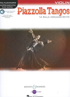 HAL LEONARD Piazzolla, Astor: Piazzolla Tangos (14 Solo Arrangements), with web access included (violin & web access)