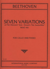 International Music Company Beethoven: Seven Variations on 'Bei Mannern' from Magic Flute (cello & piano)